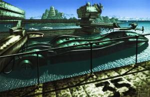 docked submarine-Guillaume Laigle