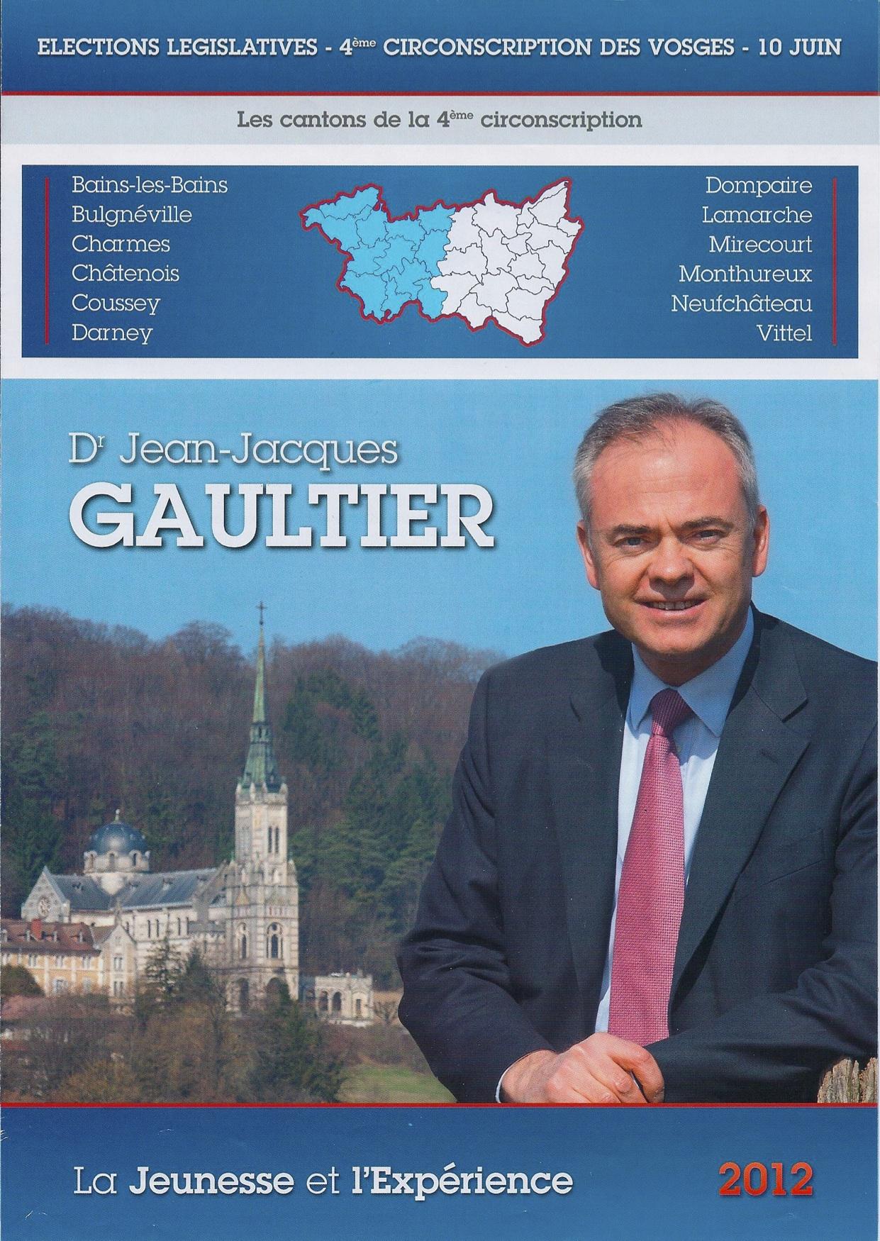 Jean-Jacques Gaultier, Programme du candidat de la 4ème circonscription des Vosges - Législatives 2012