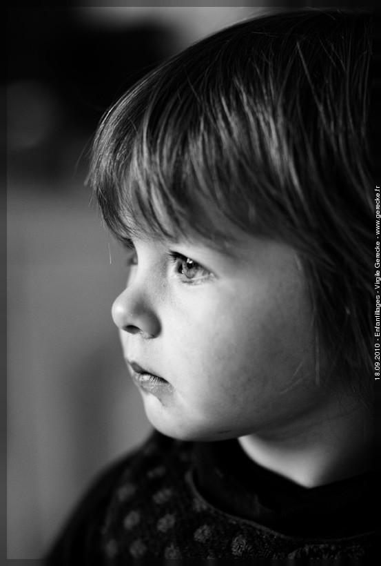 Intensité d'un regard d'enfant